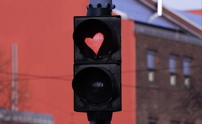 ハートの赤信号
